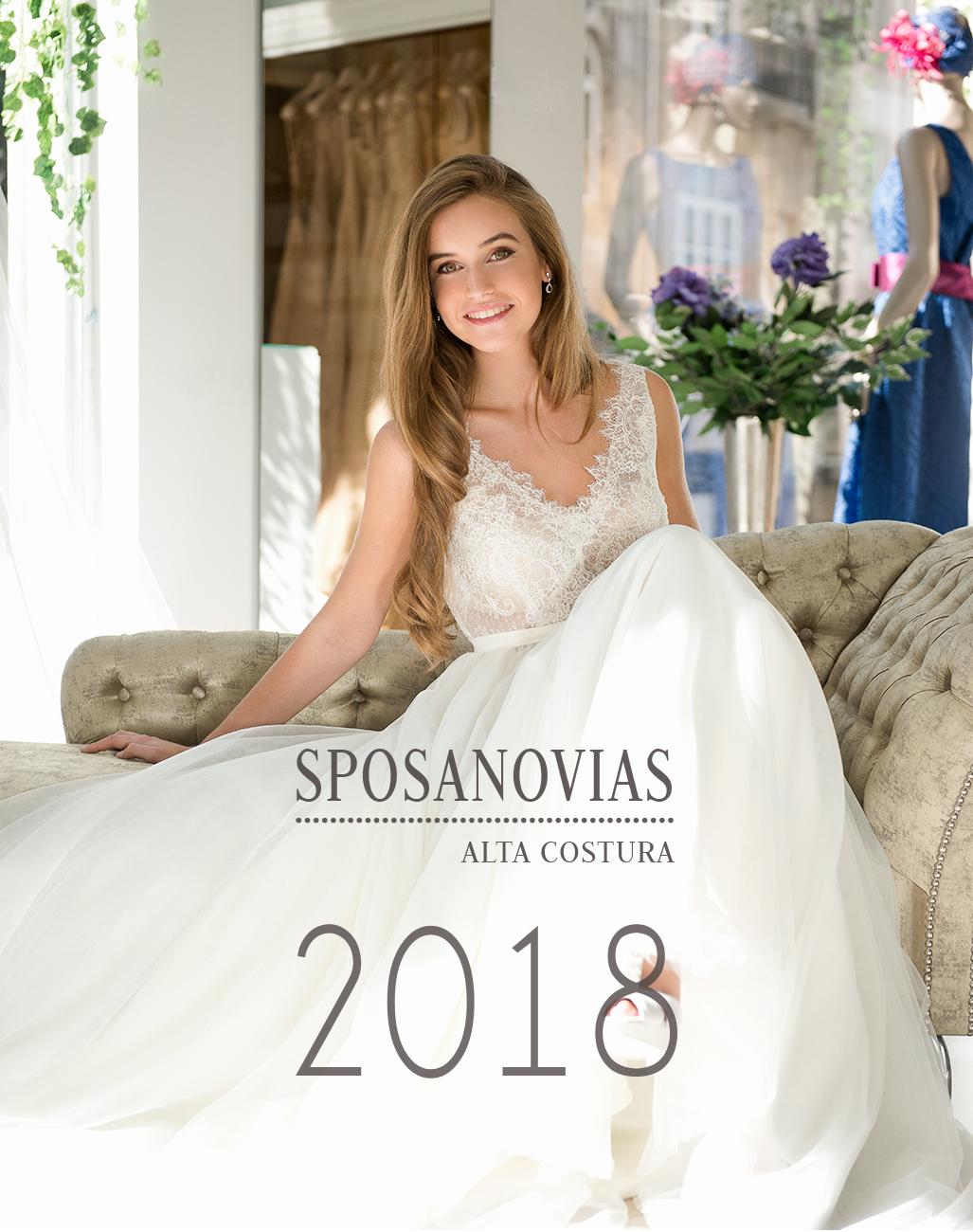 colección vestidos de novia de sposanovias 2018